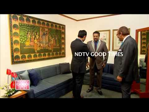 "VAISH AT RIVOLI Bespoke Tailor suit on NDTV show "" Custom Made For Vir Sanghvi """