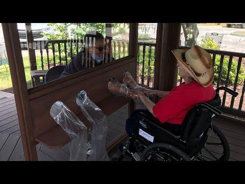 Brandon Oaks Nursing And Rehabilitation Center Debuts Family Visitation Booth
