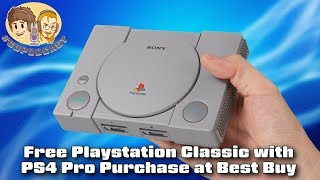 Free PlayStation Classic with PS4 Pro Purchase at Best Buy