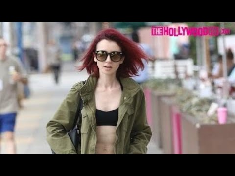 Lily collins flashes her toned abs sports bra while running lily collins flashes her toned abs sports bra while running errands 7816 ccuart Choice Image