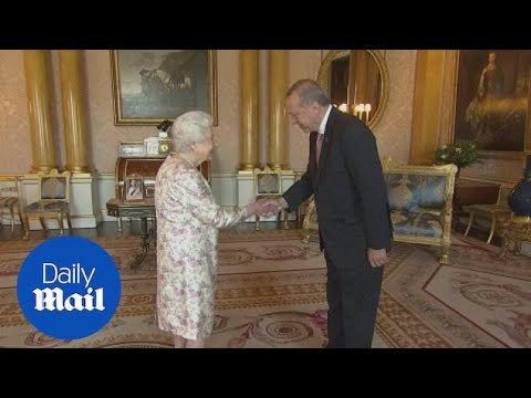The Queen meets Turkey's President Erdogan at Buckingham Palace - Daily Mail