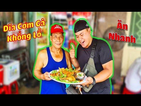 Võ Sư Lộc Ăn Nhanh Dĩa Cơm Gà Của Chú Chủ Quán Lực Sĩ –  Funny Hùng Vlog.