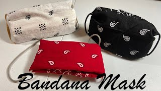 bandana face mask -no sewing- easy