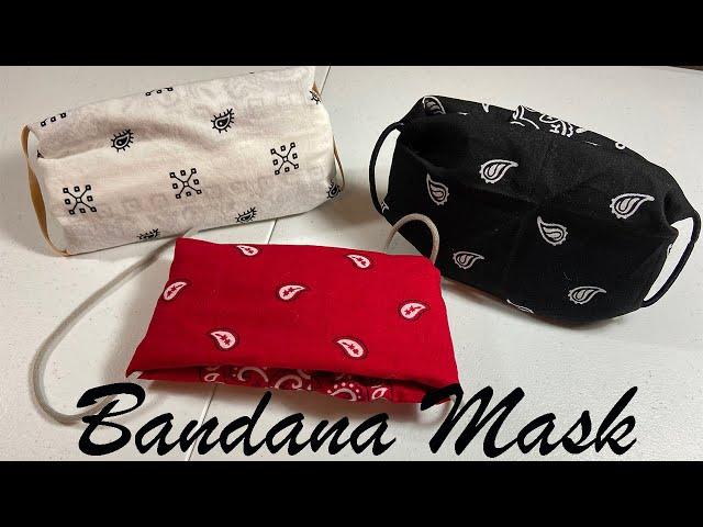 bandana face mask -no sewing- easy
