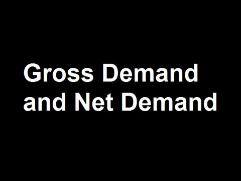 Gross Demand and Net Demand