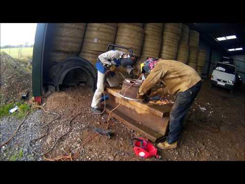Welding a yard scraper, part 1