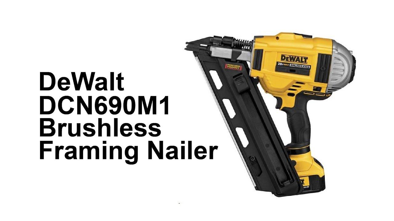 DeWalt DCN690M1 Brushless Framing Nailer - YouTube