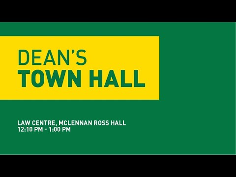 UAlberta Law - Town Hall - Sept 28, 2016