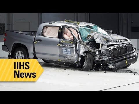 Just 3 of 11 pickups rated good in IIHS passenger-side crash tests