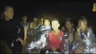 Four boys rescued from Thai cave in what appears to be a successful operation