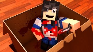 I MAILED MYSELF In A BOX To YANDERE!! ALMOST KILLED! In Minecraft