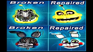 Fixed Vs Broken Withered Melodies Vs Toy Animatronics IN FNAF 2