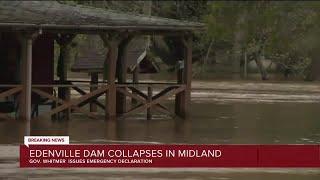 Edenville Dam collapses in Midland