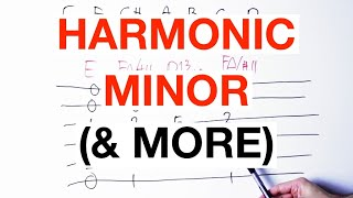 How To Make Music With The HARMONIC MINOR Scale