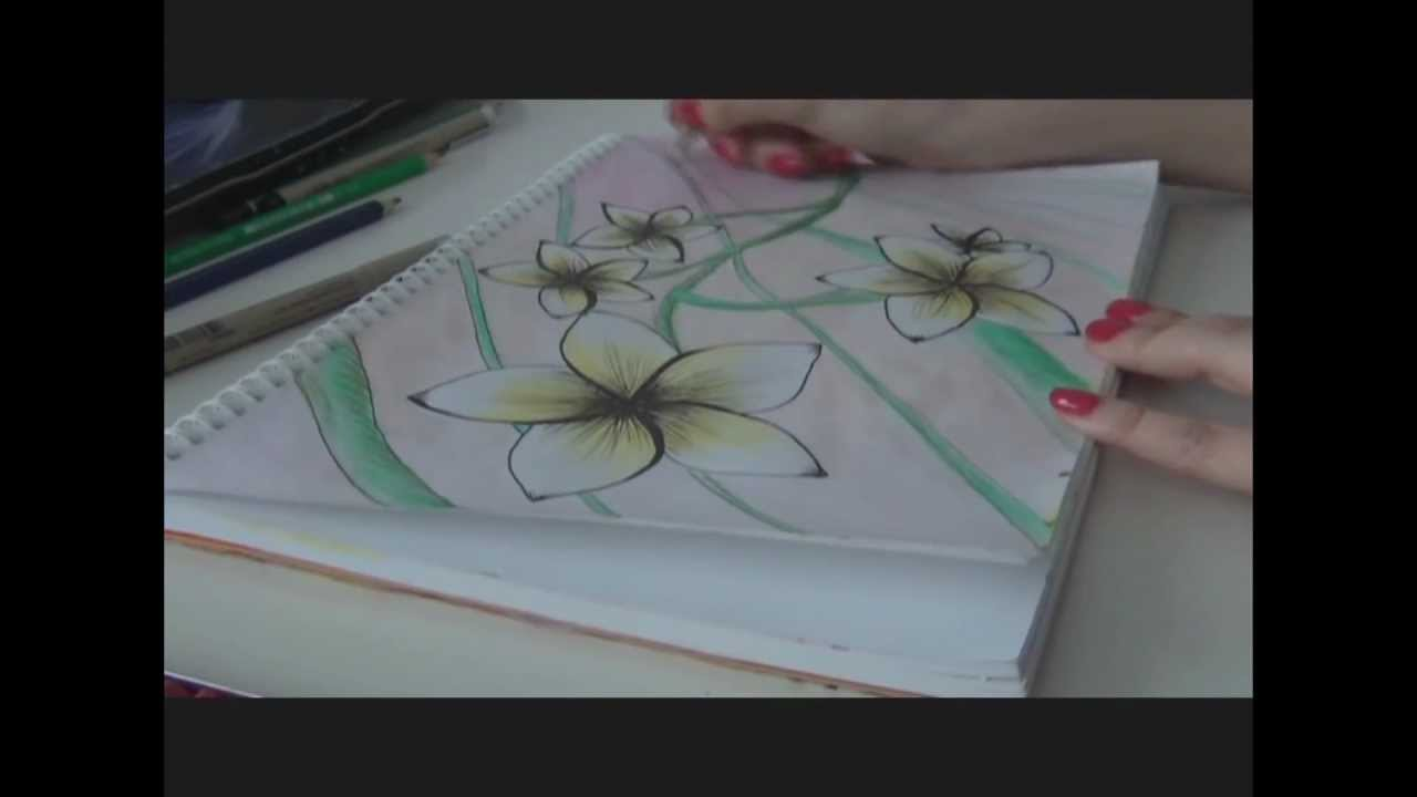 Dessin fleurs de frangipanier youtube - Dessin de fleur facile ...