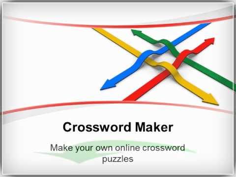 crossword maker online crosswords puzzle compiler youtube