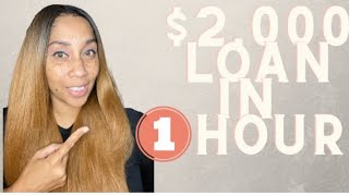 $2000 Instant Personal Loan In 1 Hour!!