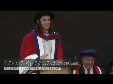 Singer-Songwriter James Bay receives an honorary degree from University of Bedfordshire