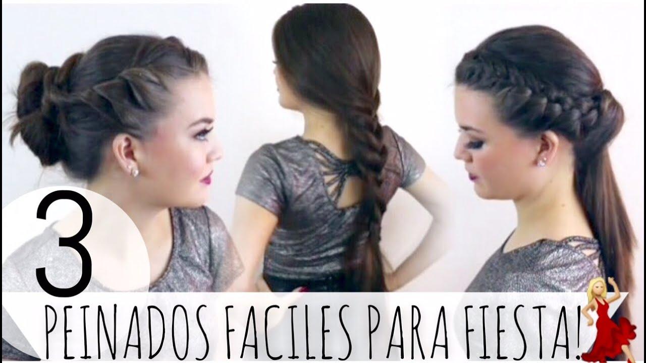 3 peinados faciles para fiesta ladygamez youtube - Peinados fiesta faciles ...