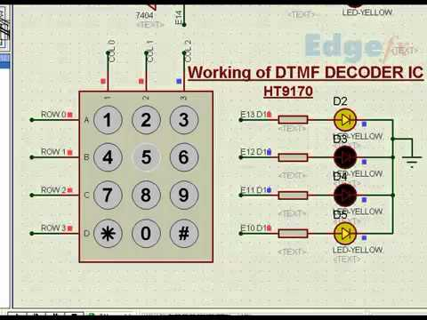 DTMF Decoder IC | DTMF Decoder Working - Electronic Circuits
