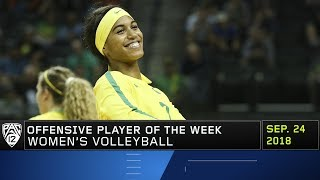 Oregon's Ronika Stone named Pac-12 Women's Volleyball Offensive Player of the Week