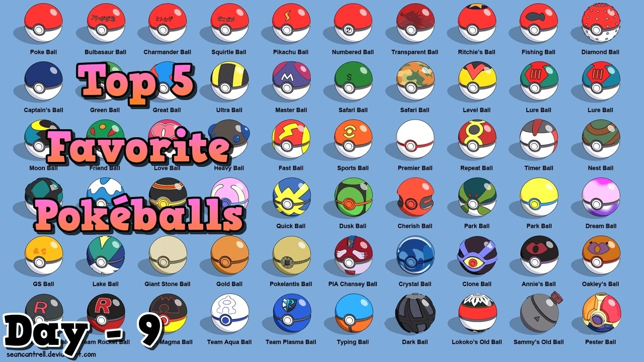 My 5 Favorite Pok 233 Balls Road To Sun And Moon Day 9 Youtube