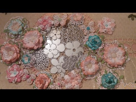 Making Shabby Chic Flowers/Butterflies Using Inexpensive Dies  + Project Share