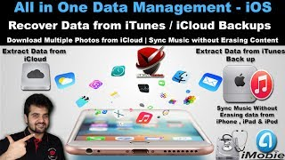 All in One iOS Data Management Tool | Recover Data from iCloud Backup | iTunes Backup
