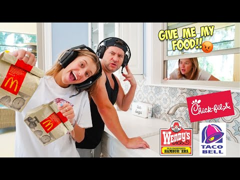 WE TURNED OUR HOUSE INTO A FAST FOOD DRIVE THRU RESTAURANT!!