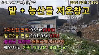 NO.157 합천군 묘산면 텃밭,농산물저온창고 2동,2…