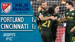 More than once, jaap stam's fc cincinnati looked like it was going to pull off another colossal upset, but the portland timbers were able hold major l...