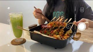 (Full ver.)호밀빵, 매운 김치비빔면, 군만두,…