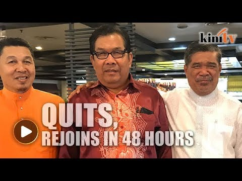 Within 48-hours of quitting, Jaafar decides to rejoin Amanah