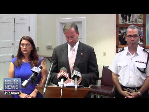 Bermuda Press Conference On Hurricane Gonzalo, October 15 2014