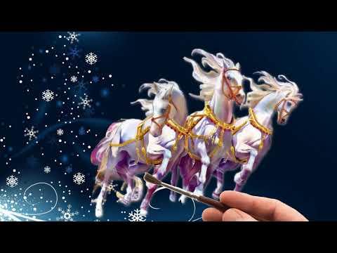 Новогодний рисованный футаж для видео открыток.