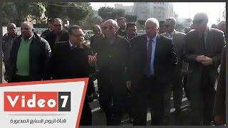 محافظ القاهرة يتفقد المحور الجديد بشارع أبو بكر الصديق بمصر الجديدة