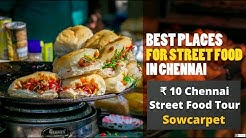 10 rs Chennai street food tour | Sowcarpet Street Foods | chat hub | Gathiya-Dhokla-jalebi-Pani puri
