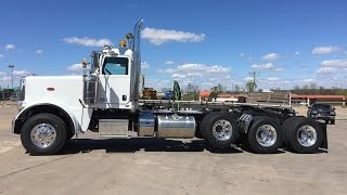 For Sale 2017 Peterbilt 389 Tri Axle Heavy Haul Day Cab 550hp 18 speed