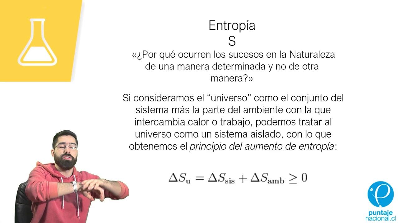 TERMODINÁMICA - ENTROPÍA Y ENERGÍA LIBRE DE GIBBS/PSU QUÍMICA/CLASE N°23 -  YouTube