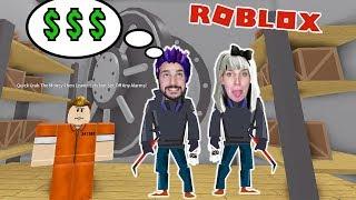 Roblox: BANK AUSRAUBEN - Nina & Kaan plündern Safe und fliehen aus ROB THE BANK OBBY