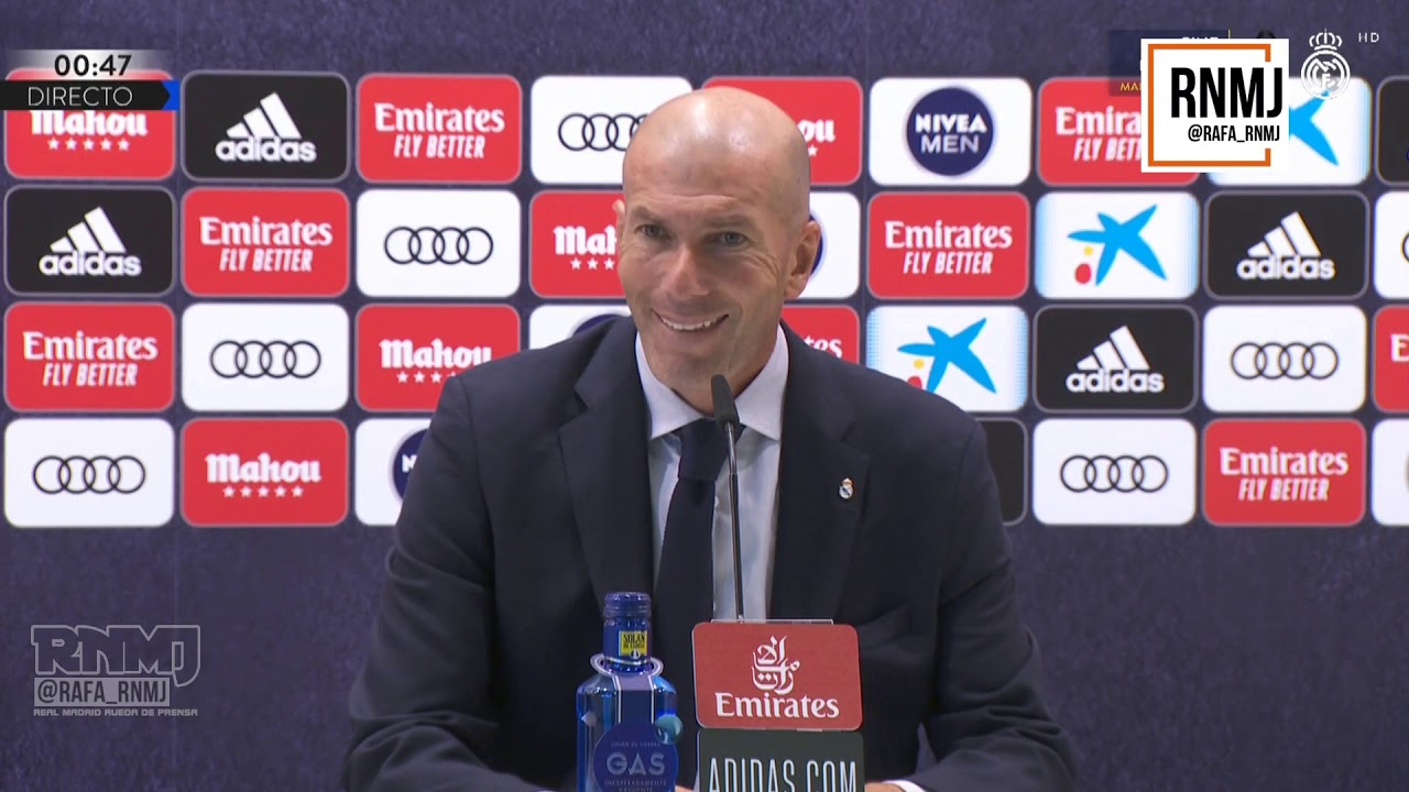 Rueda de prensa de ZIDANE post Real Madrid 1-0 Getafe (02/07/2020)
