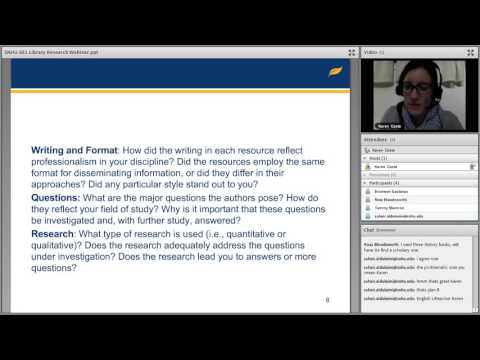 SNHU 501 Library Research Webinar OCT 2015