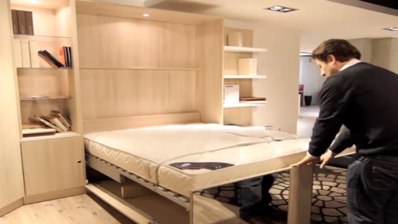 armoire lit escamotable melamix bimodal par la maison du convertible youtube. Black Bedroom Furniture Sets. Home Design Ideas