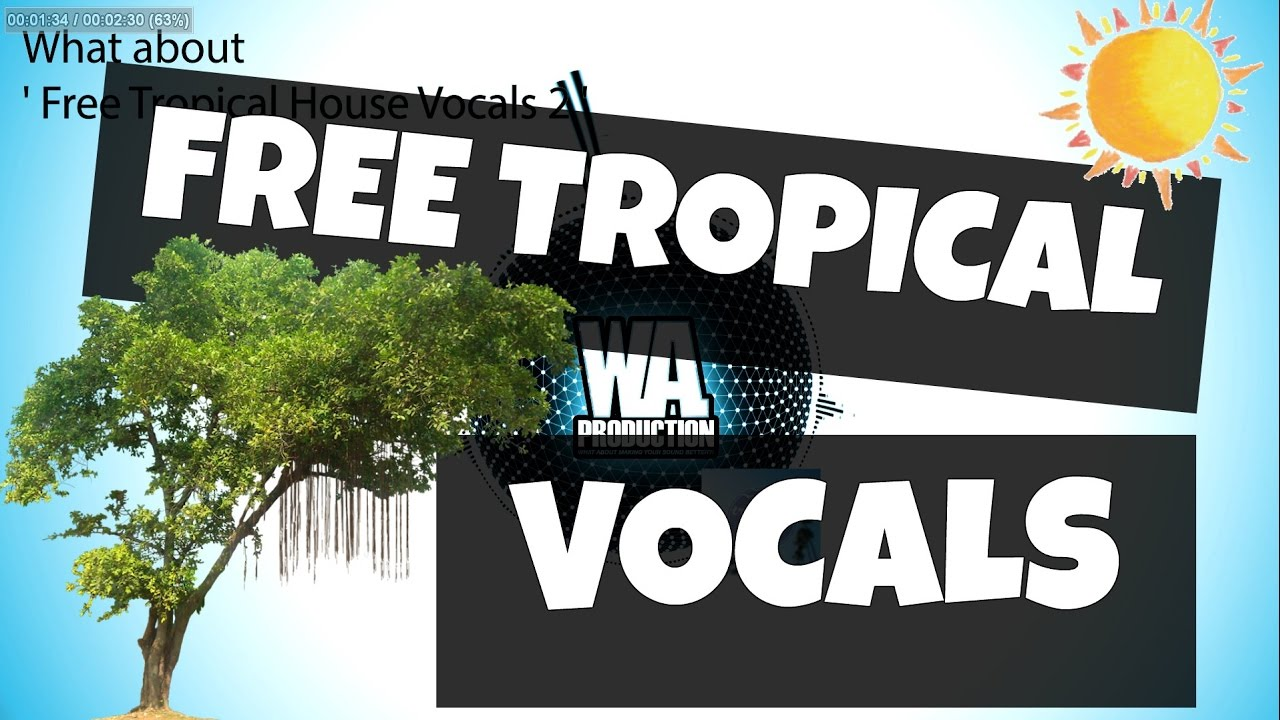 FREE Tropical House Vocals 2 [2 Kygo Style Kits, Stems, Loops / Samples Dry  / Wet Acapella]