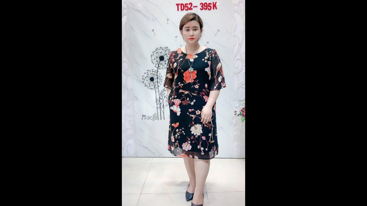 Đầm SuôngHoa Bigsize Sang TrọngTD52