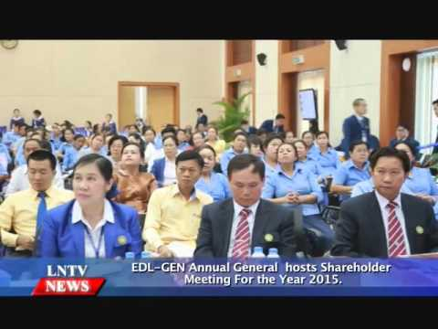 Lao NEWS on LNTV: EDL-GEN Annual General  hosts Shareholder Meeting For the Year 2015.29/4/2016