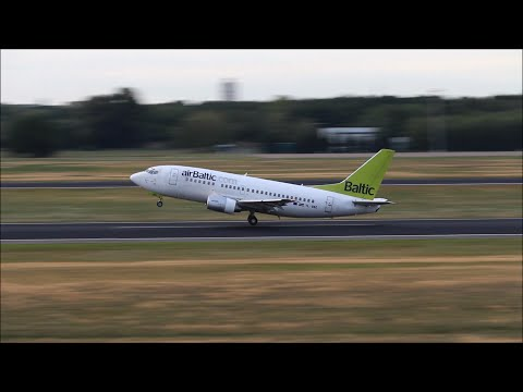 Air Baltic Boeing 737-500 take-off at Berlin Tegel Airport