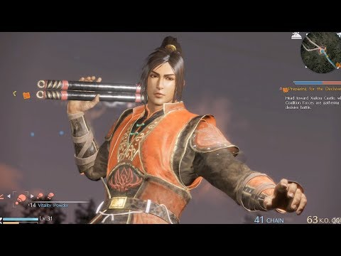 Dynasty Warriors 9 - Ling Tong - Open World Free Roam Gameplay (PS4 HD) [1080p60FPS]