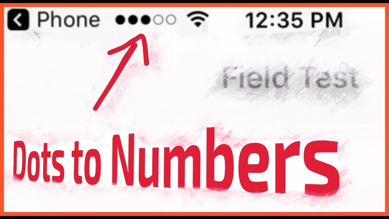 Change iPhone Signal Bar to Numbers - (Easy Method! )
