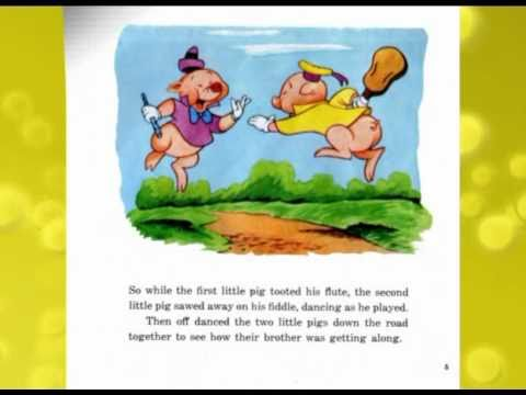 The Three Little Pigs  Disney Story Book  YouTube